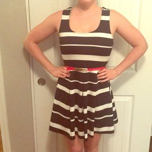 Adorable dress with red belt!